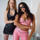 Two Babes Latex Dancing
